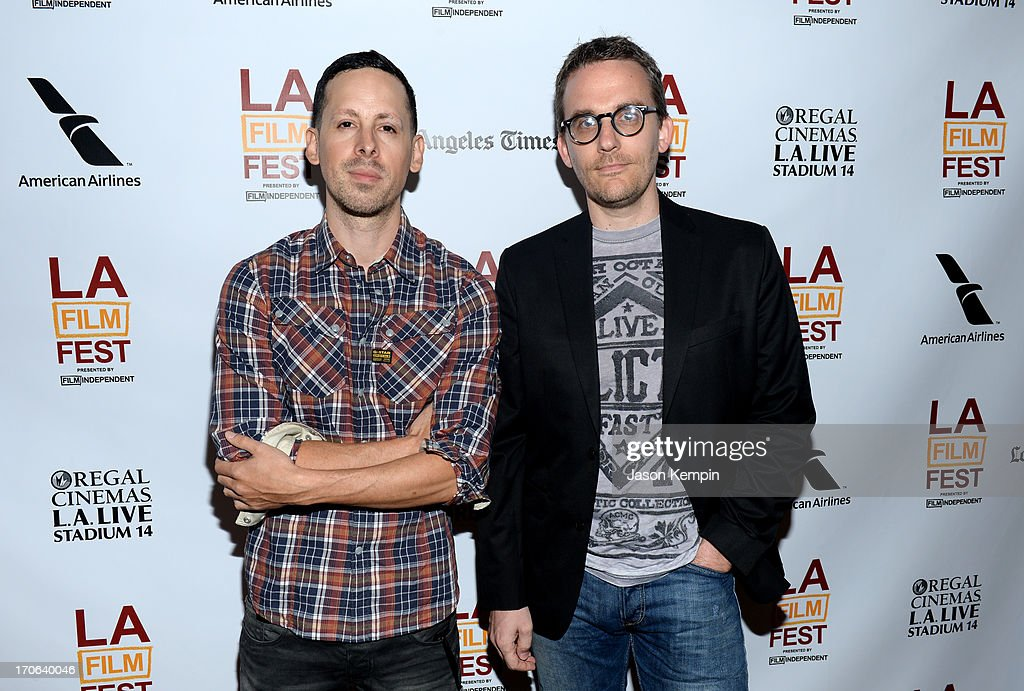 producer Jav Lovato(L) and composer Kurt Oldman arrive at the 'Tapia' premiere during the 2013 Los Angeles Film Festival at Regal Cinemas L.A. Live on June 15, 2013 in Los Angeles, California.
