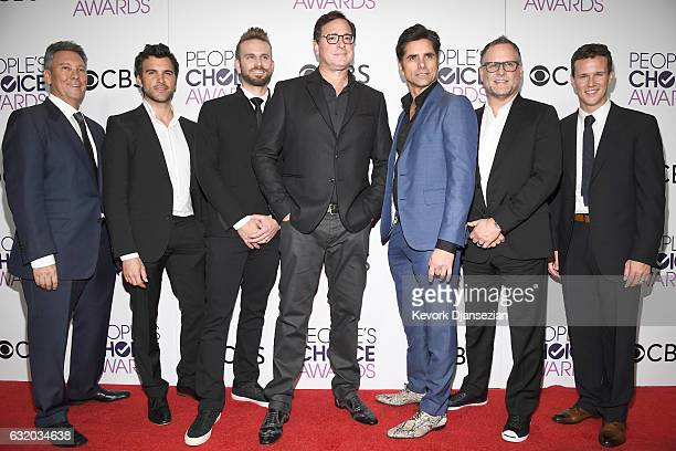 Producer Jeff Franklin actors Juan Pablo Di Pace John Brotherton Bob Saget John Stamos Dave Coulier and Scott Weinger winners of the Favorite Premium...