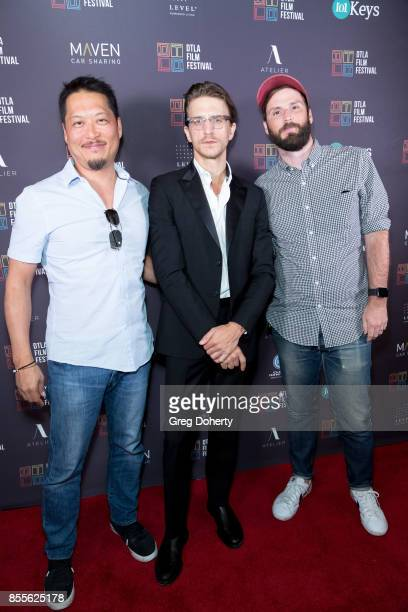 Producer Jeff Steiger Director Kevin Phillips and Producer Ed Parks arrive for the DTLA Film Festival Premiere Of The Orchard's 'Super Dark Times' at...