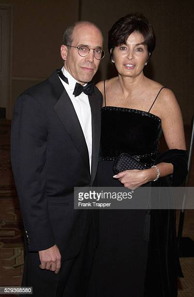Producer Jeffrey Katzenberg and his wife arrive at the Producers Guild of America's 12th Annual Golden Laurel Awards