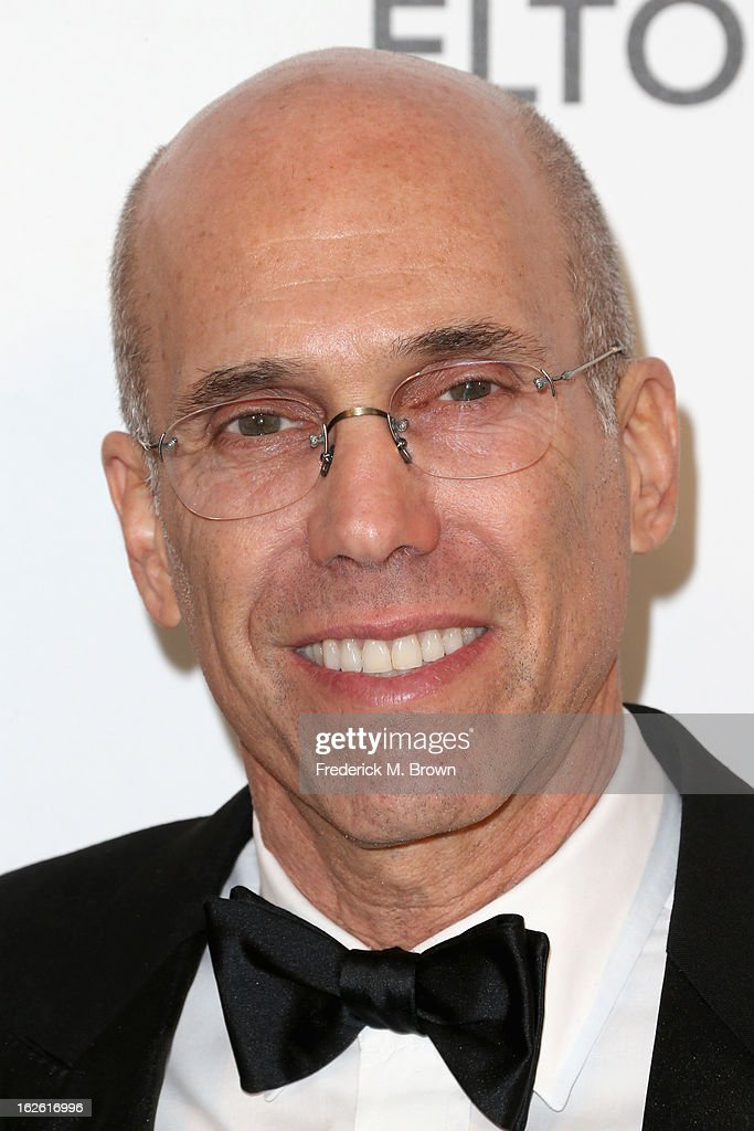 Producer Jeffrey Katzenberg arrives at the 21st Annual Elton John AIDS Foundation's Oscar Viewing Party on February 24, 2013 in Los Angeles, California.