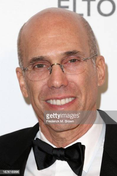 Producer Jeffrey Katzenberg arrives at the 21st Annual Elton John AIDS Foundation's Oscar Viewing Party on February 24 2013 in Los Angeles California