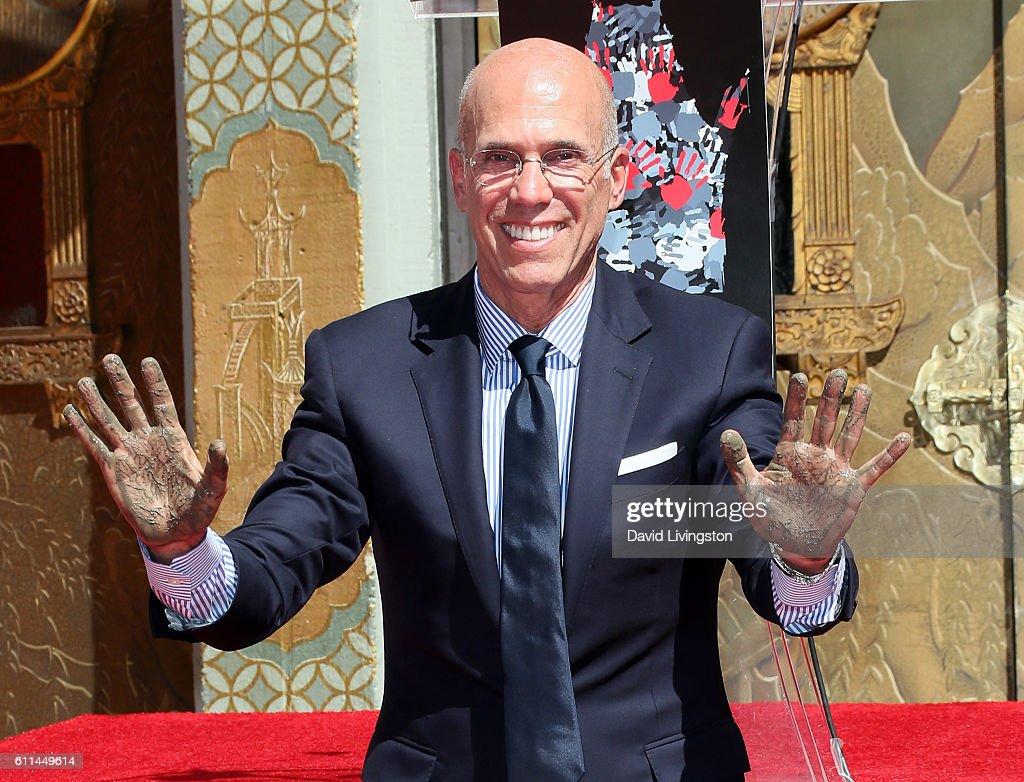 Jeffrey Katzenberg Hand And Footprint Ceremony