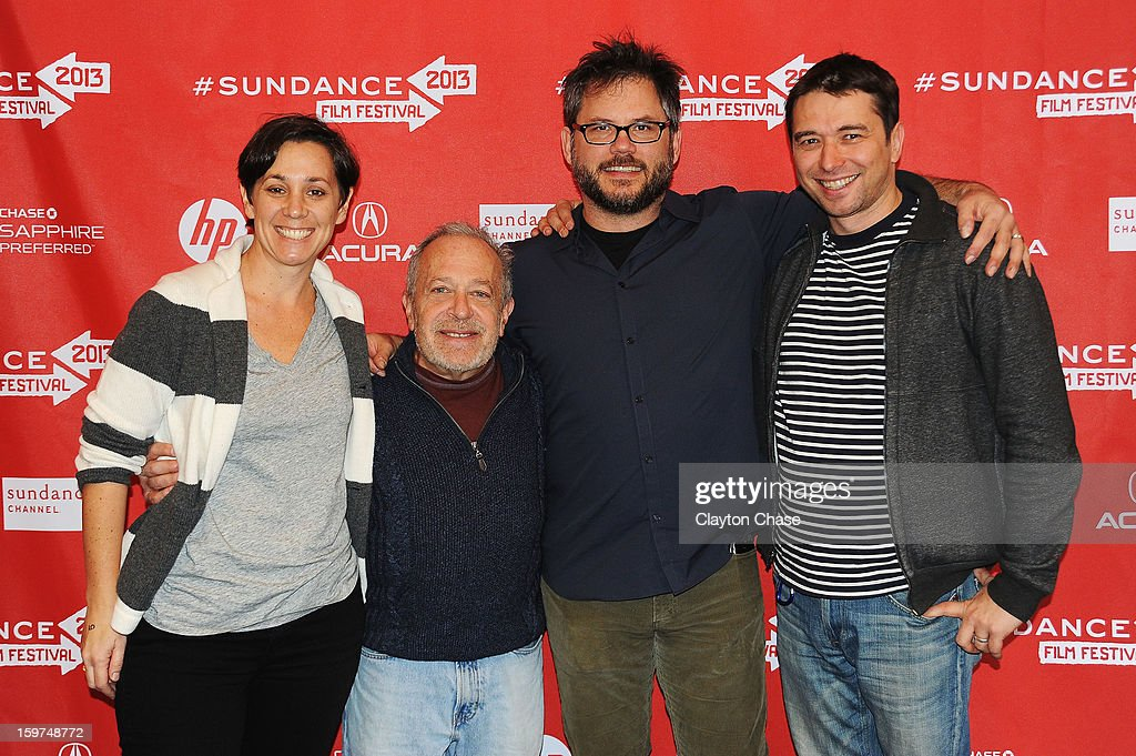 Producer Jen Chaiken, author Robert Reich, director Jacob Kornbluth and producer Sebastian Dungan attend the 'Inequality For All' premiere at Prospector Square during the 2013 Sundance Film Festival on January 19, 2013 in Park City, Utah.
