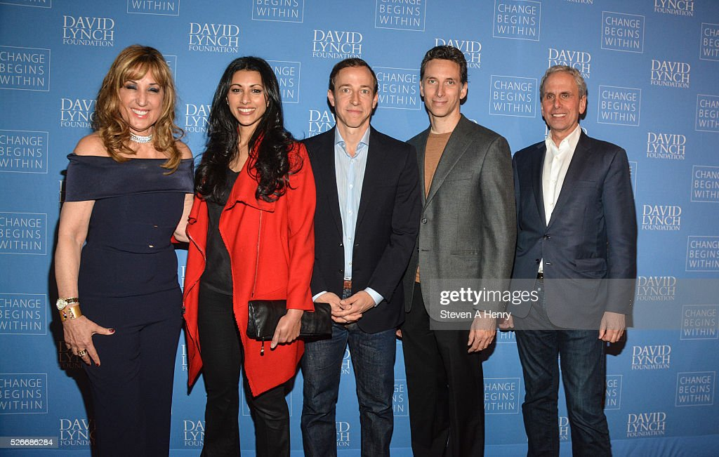 Producer Jenna Plafsky, Actress <a gi-track='captionPersonalityLinkClicked' href=/galleries/search?phrase=Reshma+Shetty&family=editorial&specificpeople=4076704 ng-click='$event.stopPropagation()'>Reshma Shetty</a>, Executive Producer Michael Rauch, Actor <a gi-track='captionPersonalityLinkClicked' href=/galleries/search?phrase=Ben+Shenkman&family=editorial&specificpeople=228771 ng-click='$event.stopPropagation()'>Ben Shenkman</a> and Executive Director of the David Lynch Foundation Bob Roth attend 'An Amazing Night Of Comedy: A David Lynch Foundation Benefit For Veterans With PTSD' at New York City Center on April 30, 2016 in New York City.