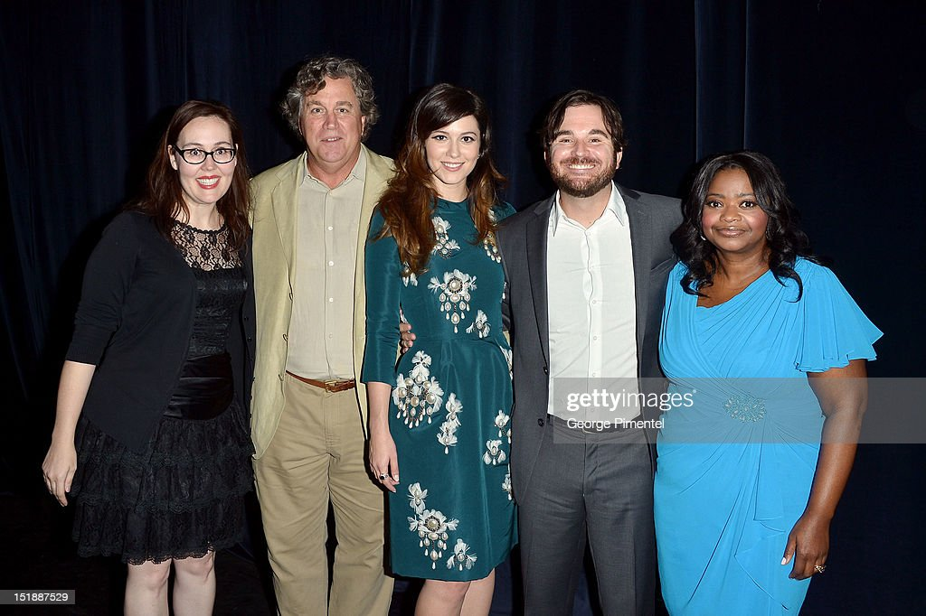 Producer Jennifer Cochis, Co-President of Sony Classic Pictures Tom Bernard, actress Mary Elizabeth Winstead, director James Ponsoldt, and actress Octavia Spencer attend the 'Smashed' Premiere during 2012 Toronto International Film Festival at Ryerson Theatre on September 12, 2012 in Toronto, Canada.