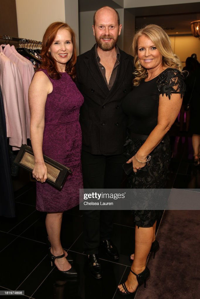 Producer Jennifer Todd, ESCADA fashion director Daniel Wingate and producer Suzanne Todd attend ESCADA and W Magazine's celebration of Cool Earth with hosts Daniel Wingate, Suzanne Todd and Jennifer Todd at Escada Boutique on September 26, 2013 in Beverly Hills, California.