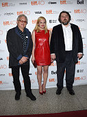 Producer Jeremy Thomas actress Elisabeth Moss and director Ben Wheatley attend the 'HighRise' premiere during the 2015 Toronto International Film...
