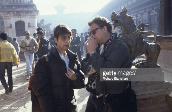 Producer Jeremy Thomas on the set of the film 'Little Buddha' circa 1992