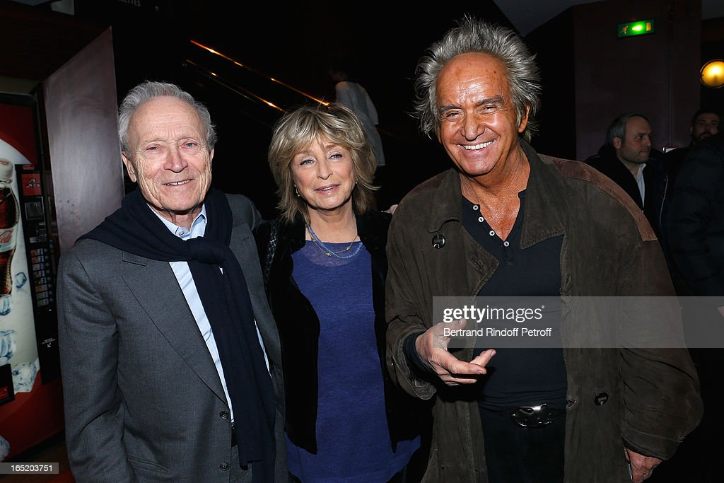 Producer Jerome Seydoux (Pdt Pathe), Director Daniele Thompson and Producer Albert Koski attend 'Des gens qui s'embrassent' movie premiere at Cinema Gaumont Marignan on April 1, 2013 in Paris, France.