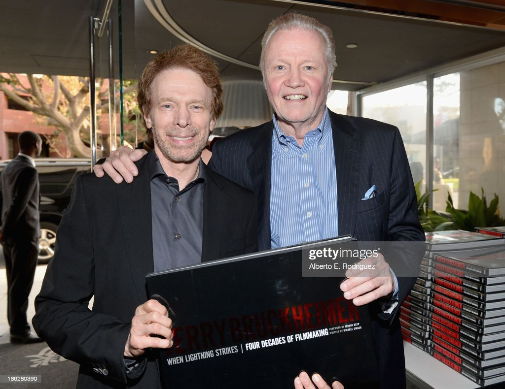 Producer Jerry Bruckheimer and ctor Jon Voight attend the launch party for legendary producer Jerry Bruckheimer's book 'Jerry Bruckheimer When...