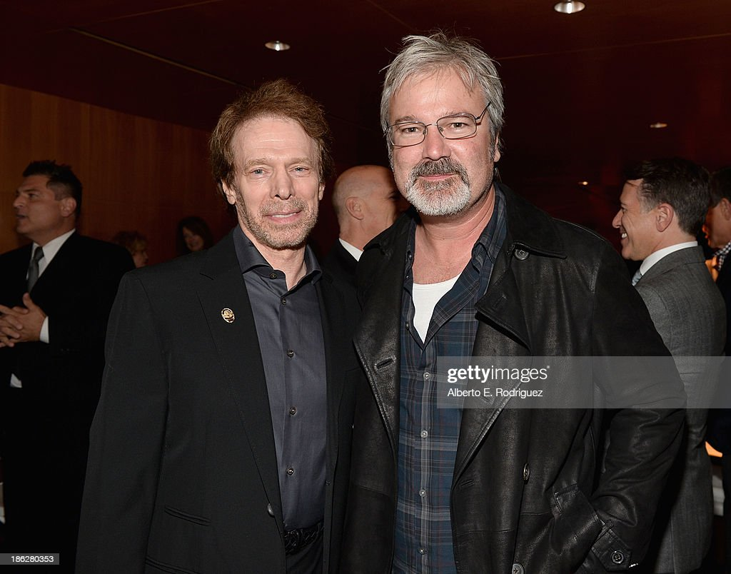 Producer <a gi-track='captionPersonalityLinkClicked' href=/galleries/search?phrase=Jerry+Bruckheimer&family=editorial&specificpeople=203316 ng-click='$event.stopPropagation()'>Jerry Bruckheimer</a> (L) and director <a gi-track='captionPersonalityLinkClicked' href=/galleries/search?phrase=Gore+Verbinski&family=editorial&specificpeople=538751 ng-click='$event.stopPropagation()'>Gore Verbinski</a> attend the launch party for legendary producer <a gi-track='captionPersonalityLinkClicked' href=/galleries/search?phrase=Jerry+Bruckheimer&family=editorial&specificpeople=203316 ng-click='$event.stopPropagation()'>Jerry Bruckheimer</a>'s book, '<a gi-track='captionPersonalityLinkClicked' href=/galleries/search?phrase=Jerry+Bruckheimer&family=editorial&specificpeople=203316 ng-click='$event.stopPropagation()'>Jerry Bruckheimer</a>: When Lightning Strikes - Four Decades of Filmmaking,' at Katsuya Brentwood on October 29, 2013 in Brentwood, California.