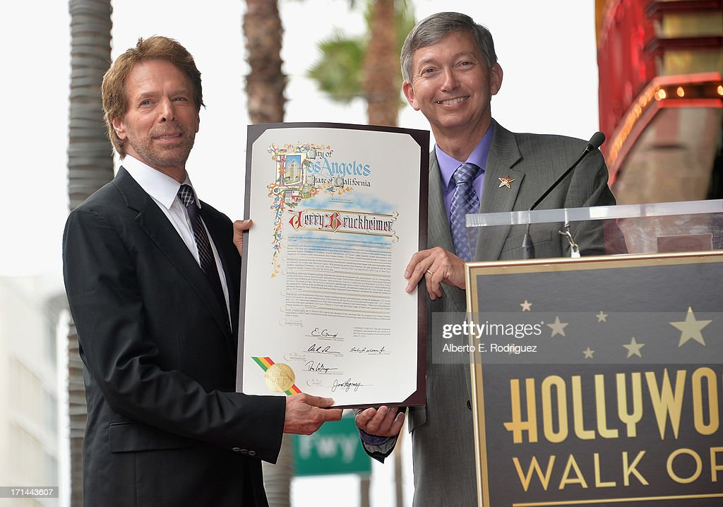 Producer <a gi-track='captionPersonalityLinkClicked' href=/galleries/search?phrase=Jerry+Bruckheimer&family=editorial&specificpeople=203316 ng-click='$event.stopPropagation()'>Jerry Bruckheimer</a> and Hollywood Chamber of Commerce President and CEO <a gi-track='captionPersonalityLinkClicked' href=/galleries/search?phrase=Leron+Gubler&family=editorial&specificpeople=692259 ng-click='$event.stopPropagation()'>Leron Gubler</a> attend Legendary Producer <a gi-track='captionPersonalityLinkClicked' href=/galleries/search?phrase=Jerry+Bruckheimer&family=editorial&specificpeople=203316 ng-click='$event.stopPropagation()'>Jerry Bruckheimer</a> Hollywood Walk of Fame Star Ceremony on the Hollywood Walk of Fame on June 24, 2012 in Hollywood, California.