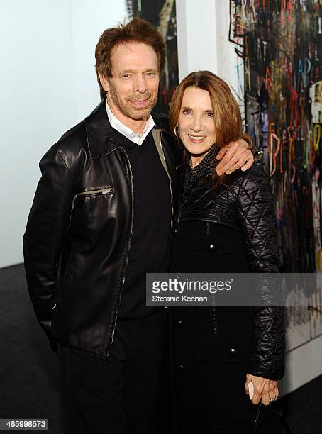 Producer Jerry Bruckheimer and Linda Bruckheimer attend the Art Los Angeles Contemporary 2014 opening night at Barker Hangar on January 30 2014 in...