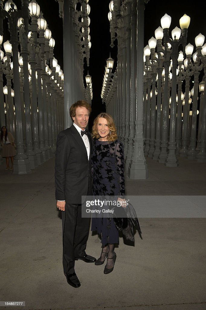 Producer Jerry Bruckheimer and novelist Linda Bruckheimer andattends LACMA 2012 Art + Film Gala Honoring Ed Ruscha and Stanley Kubrick presented by Gucci at LACMA on October 27, 2012 in Los Angeles, California.