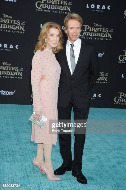Producer Jerry Bruckheimer and wife Linda Bruckheimer arrive at the premiere of Disney's 'Pirates of the Caribbean Dead Men Tell No Tales' at the...