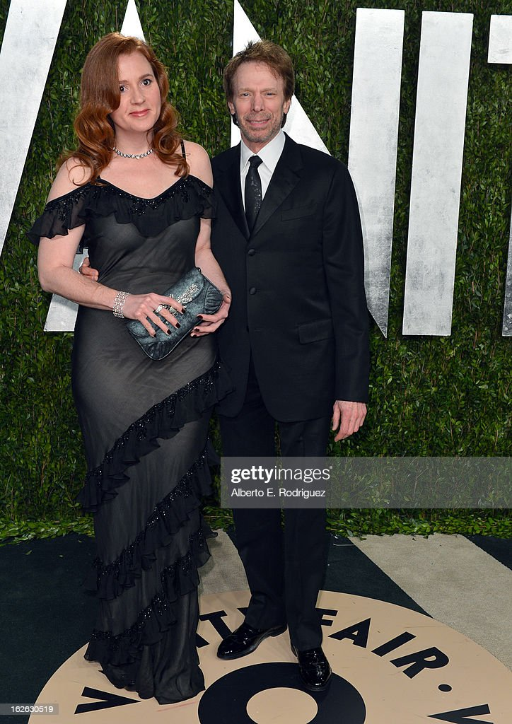 Producer Jerry Bruckheimer (R) arrives at the 2013 Vanity Fair Oscar Party hosted by Graydon Carter at Sunset Tower on February 24, 2013 in West Hollywood, California.