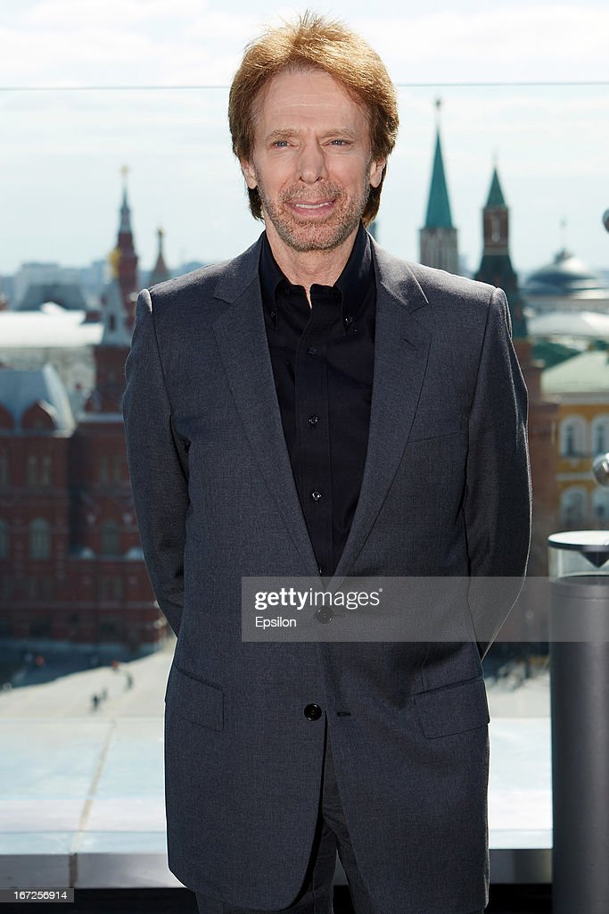 Producer <a gi-track='captionPersonalityLinkClicked' href=/galleries/search?phrase=Jerry+Bruckheimer&family=editorial&specificpeople=203316 ng-click='$event.stopPropagation()'>Jerry Bruckheimer</a> attends a photocall for Walt Disney Pictures' 'Lone Ranger' at Ritz Carlton Hotel on April, 23, 2013 in Moscow, Russia. (Photo Epsilon/Getty Images).