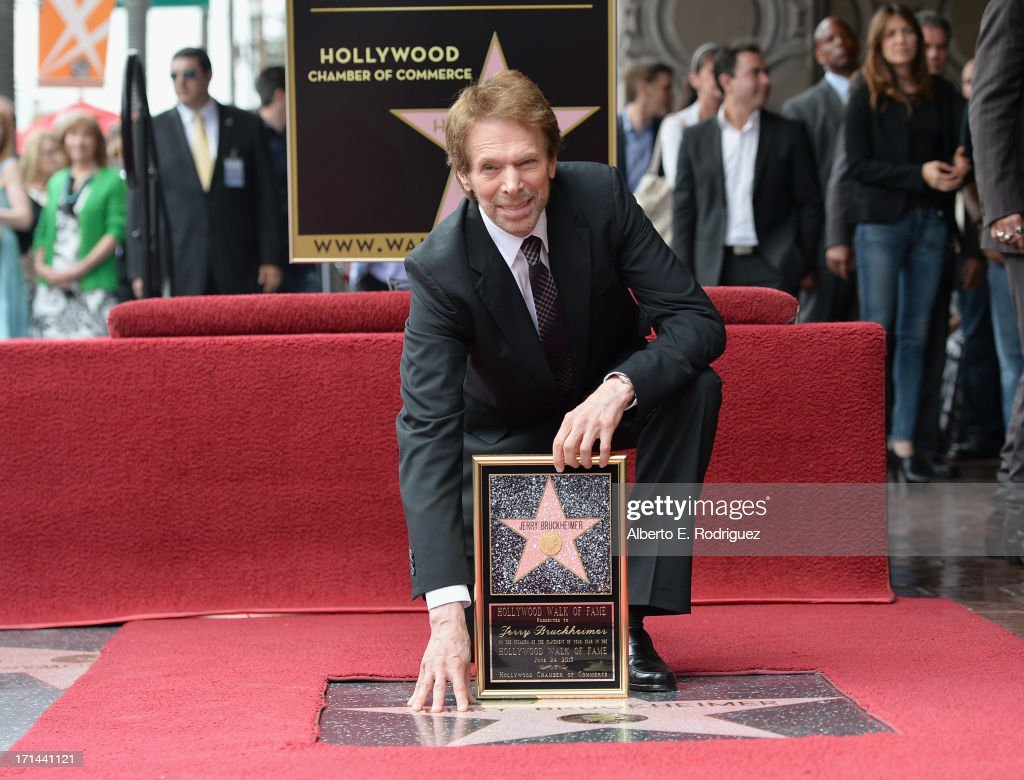 Producer Jerry Bruckheimer attends his Hollywood Walk of Fame Star Ceremony on the Hollywood Walk of Fame on June 24 2012 in Hollywood California