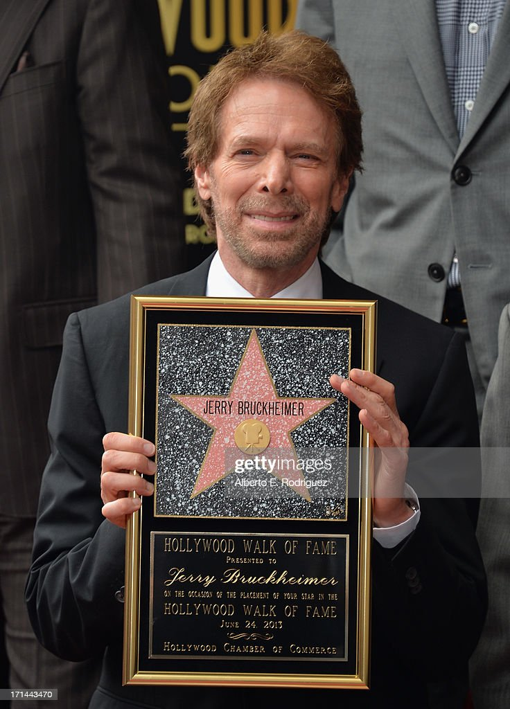 Producer <a gi-track='captionPersonalityLinkClicked' href=/galleries/search?phrase=Jerry+Bruckheimer&family=editorial&specificpeople=203316 ng-click='$event.stopPropagation()'>Jerry Bruckheimer</a> attends his Hollywood Walk of Fame Star Ceremony on the Hollywood Walk of Fame on June 24, 2012 in Hollywood, California.