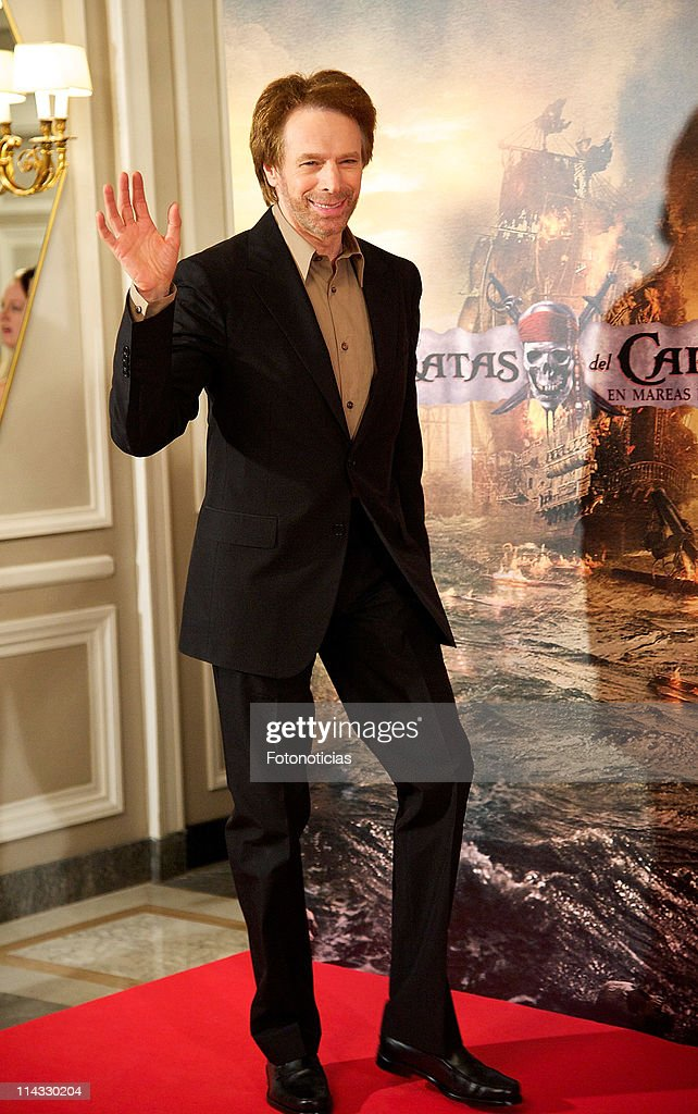 Producer <a gi-track='captionPersonalityLinkClicked' href=/galleries/search?phrase=Jerry+Bruckheimer&family=editorial&specificpeople=203316 ng-click='$event.stopPropagation()'>Jerry Bruckheimer</a> attends 'Pirates Of The Caribbean: On Stranger Tides' photocall at the Villamagna Hotel on May 18, 2011 in Madrid, Spain.