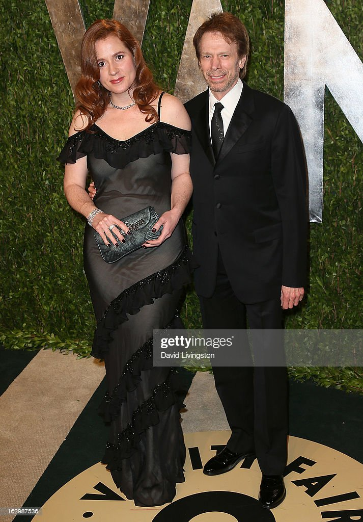 Producer Jerry Bruckheimer (R) attends the 2013 Vanity Fair Oscar Party at the Sunset Tower Hotel on February 24, 2013 in West Hollywood, California.