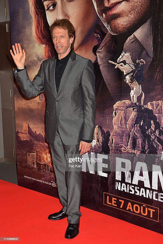 Producer Jerry Bruckheimer attends the Paris Premiere of 'The Lone Ranger' at Cinema UGC Normandie on July 24, 2013 in Paris, France.