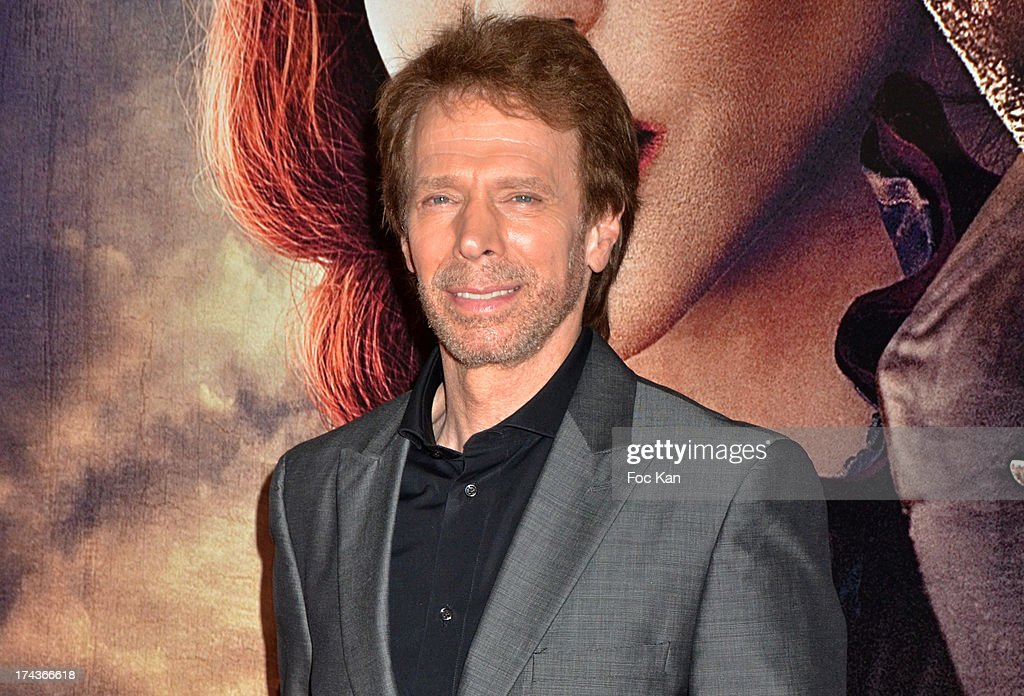 Producer <a gi-track='captionPersonalityLinkClicked' href=/galleries/search?phrase=Jerry+Bruckheimer&family=editorial&specificpeople=203316 ng-click='$event.stopPropagation()'>Jerry Bruckheimer</a> attends the Paris Premiere of 'The Lone Ranger' at Cinema UGC Normandie on July 24, 2013 in Paris, France.