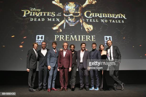 Producer Jerry Bruckheimer Director Espen Sandberg actors Brenton Thwaites Geoffrey Rush Johnny Depp Javier Bardem Orlando Bloom Kaya Scodelario and...