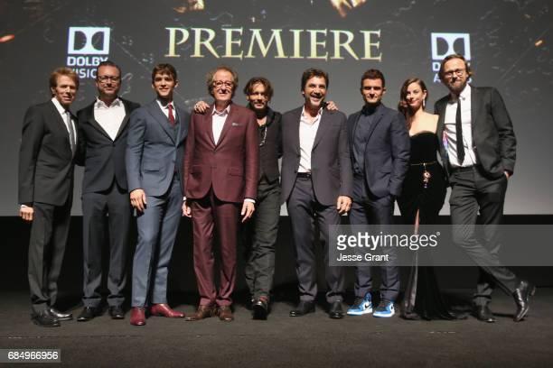 Producer Jerry Bruckheimer Director Espen Sandberg actors Brenton Thwaites Geoffrey Rush Johnny Depp Javier Bardem Orlando Bloom Kaya Scodelario and...