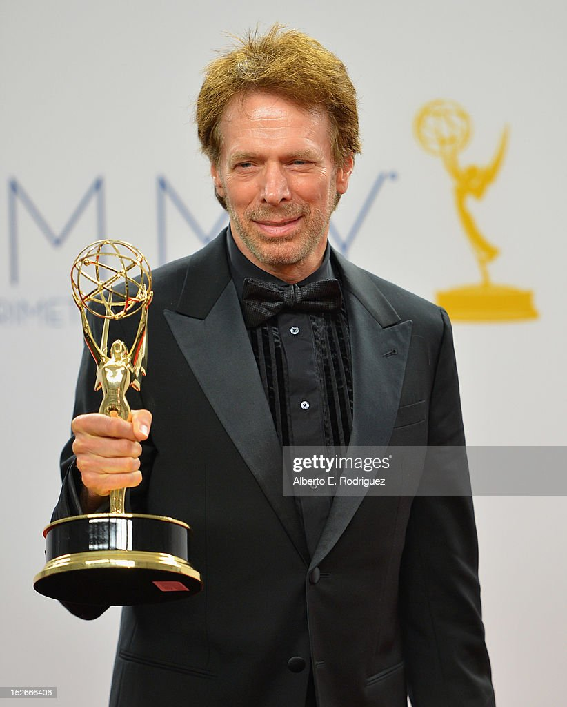 Producer Jerry Bruckheimer poses in the 64th Annual Emmy Awards press room at Nokia Theatre L.A. Live on September 23, 2012 in Los Angeles, California.