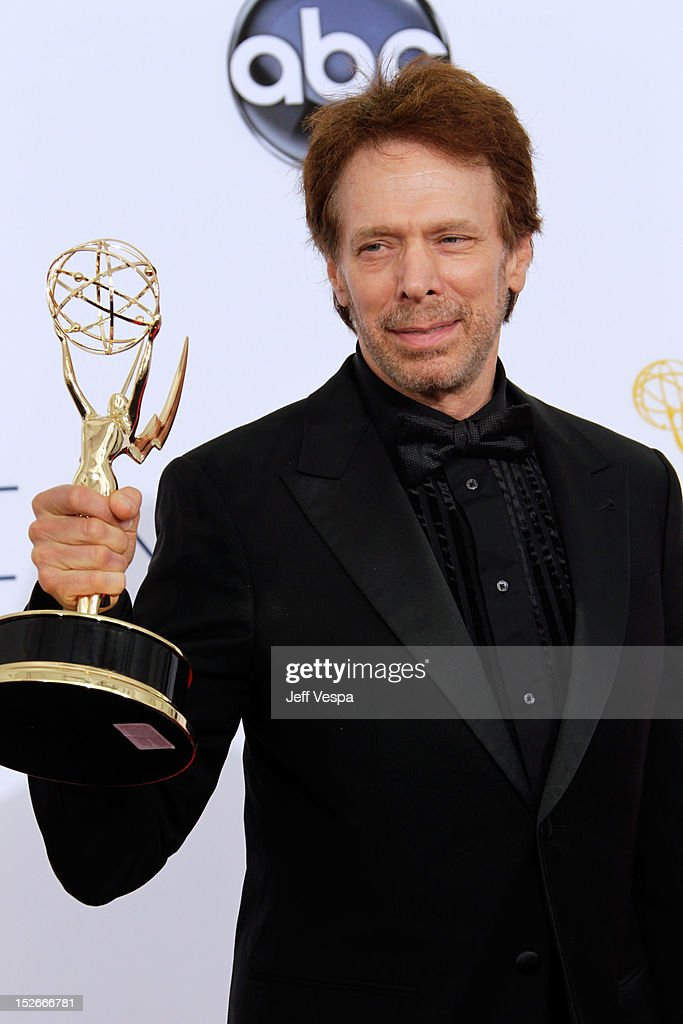 Producer Jerry Bruckheimer poses in the press room during the 64th Primetime Emmy Awards at Nokia Theatre L.A. Live on September 23, 2012 in Los Angeles, California.