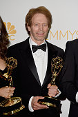 Producer Jerry Bruckheimer poses in the press room during the 66th Annual Primetime Emmy Awards held at Nokia Theatre LA Live on August 25 2014 in...