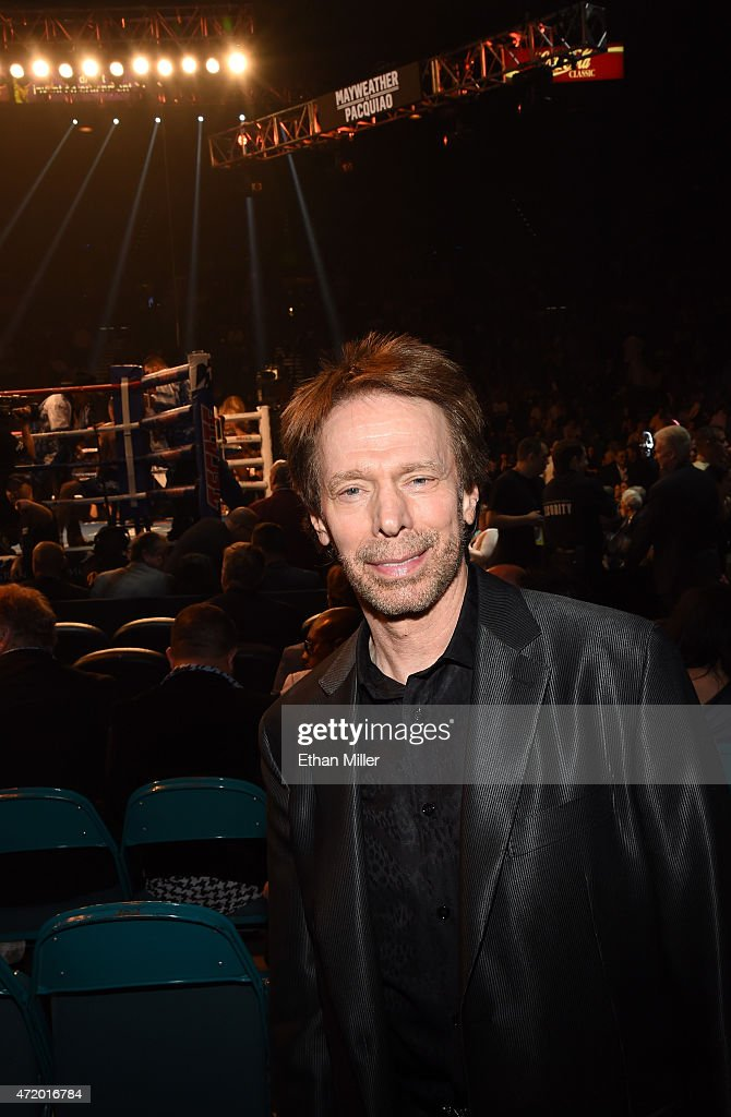 Producer Jerry Bruckheimer poses ringside at 'Mayweather VS Pacquiao' presented by SHOWTIME PPV And HBO PPV at MGM Grand Garden Arena on May 2 2015...