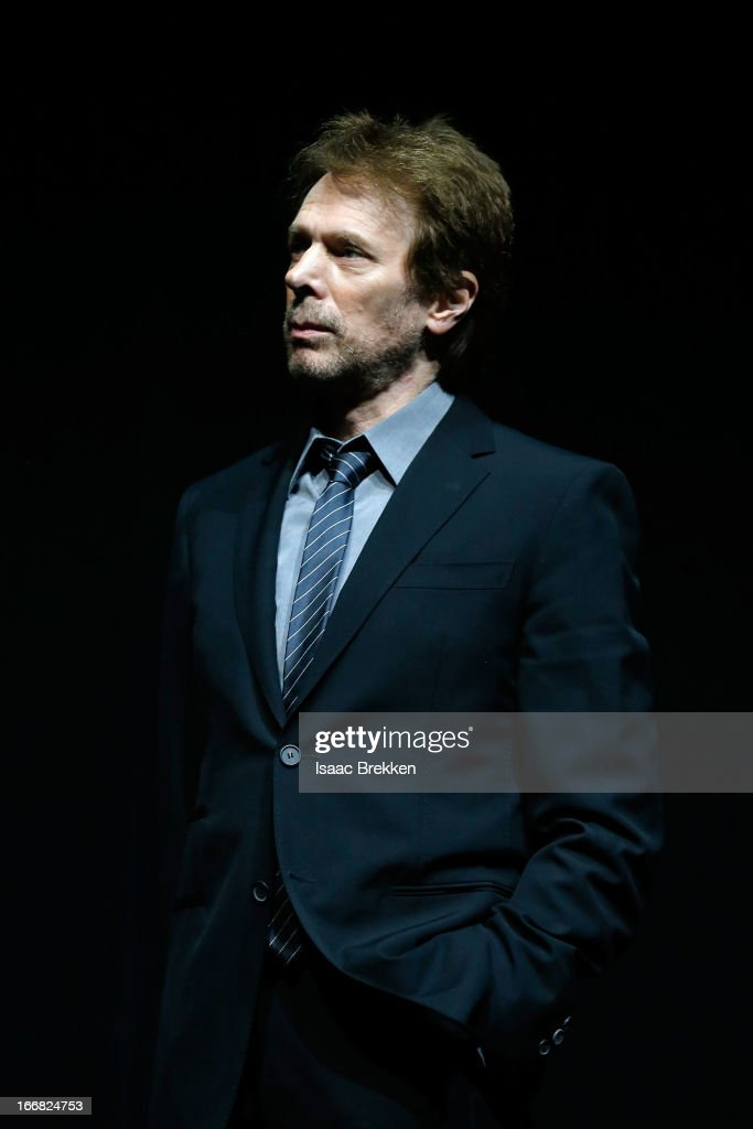 Producer Jerry Bruckheimer speaks at The Walt Disney Studios Motion Pictures presentation to promote his upcoming film, 'The Lone Ranger' at Caesars Palace during CinemaCon, the official convention of the National Association of Theatre Owners on April 17, 2013 in Las Vegas, Nevada.