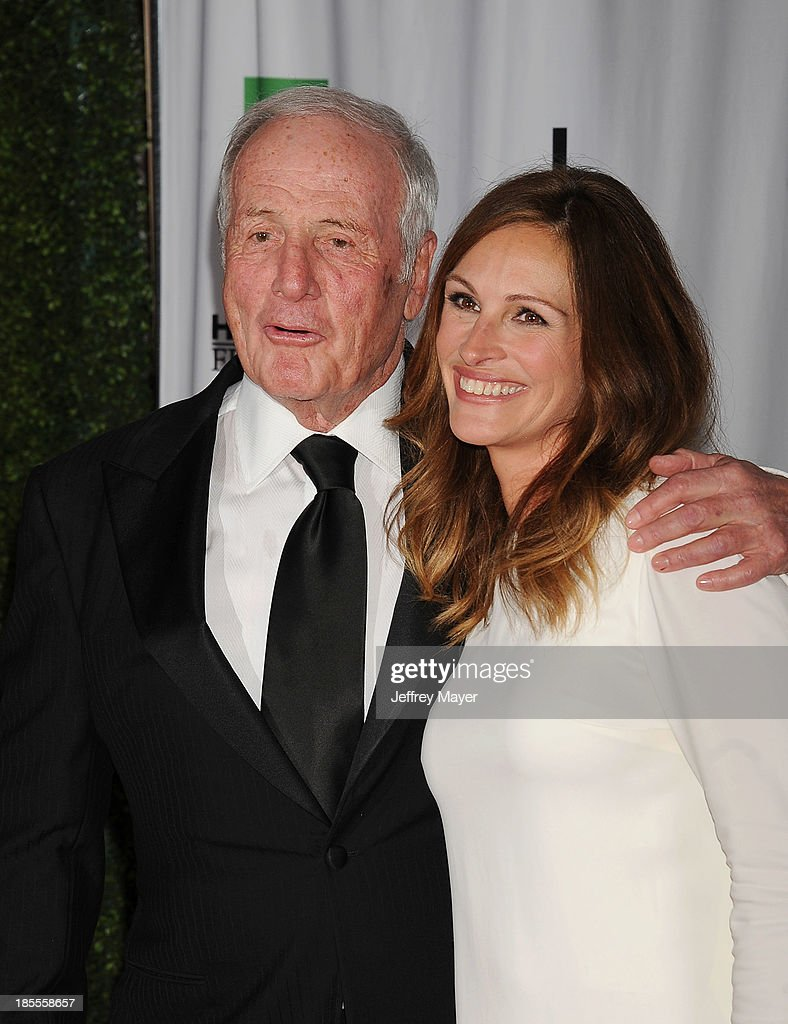 Producer Jerry Weintraub (L) and actress/honoree Julia Roberts arrive at the 17th Annual Hollywood Film Awards at The Beverly Hilton Hotel on October 21, 2013 in Beverly Hills, California.