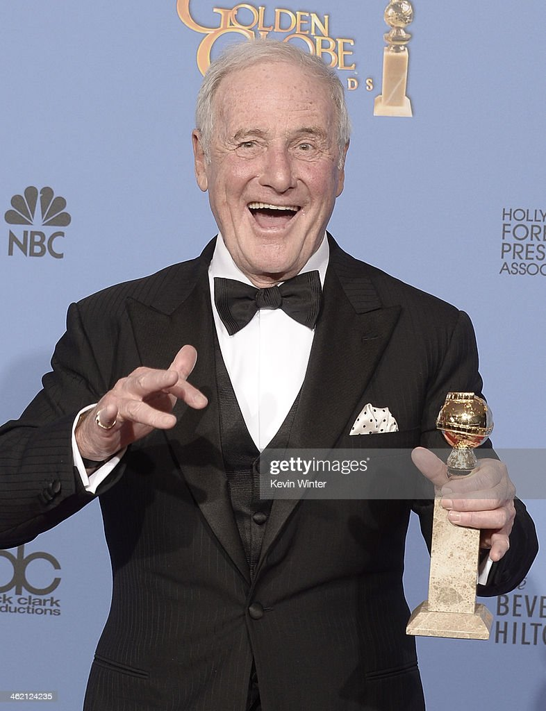 Producer Jerry Weintraub winner of Best Miniseries or Television Film for 'Behind the Candelabra' poses in the press room during the 71st Annual...