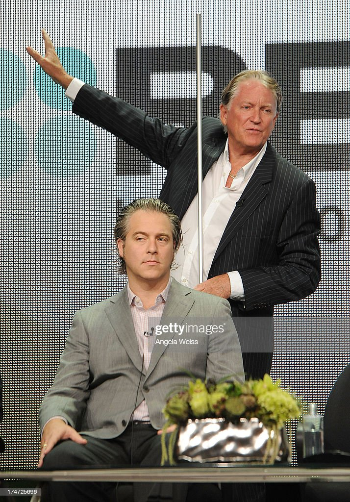 Producer Jesse Prupas and investigative writer Colin McLaren speak onstage during 'JFK: The Smoking Gun' panel discussion at the ReelzChannel portion of the 2013 Summer Television Critics Association tour at The Beverly Hilton Hotel on July 28, 2013 in Beverly Hills, California.