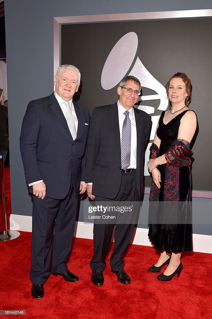 Producer Jim Anderson, producer Michael Friedman and recording engineer Darcy Proper attend the 55th Annual GRAMMY Awards at STAPLES Center on February 10, 2013 in Los Angeles, California.