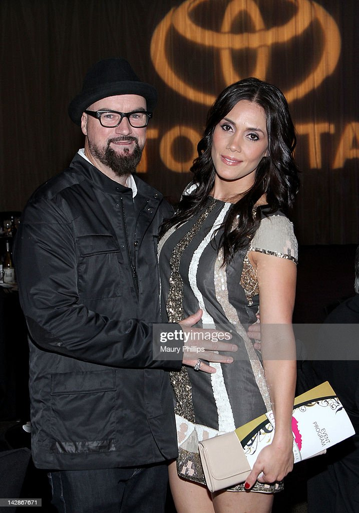 Producer Jim Jonsin and Janell Jonsin attend the Toyota Charity Ball on April 13, 2012 in Long Beach, California.