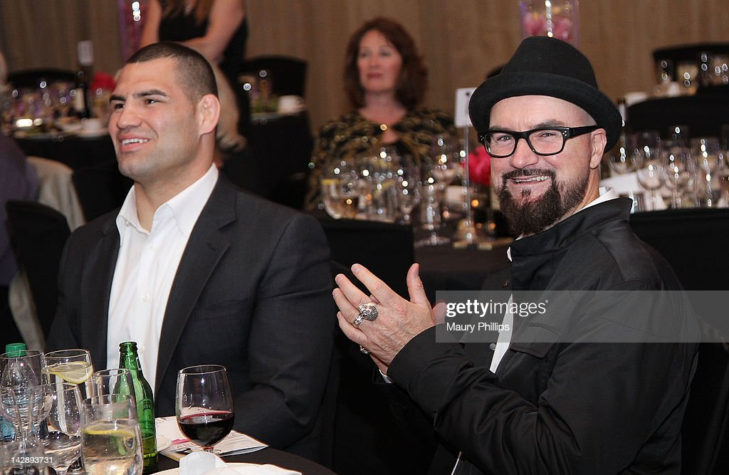 Producer Jim Jonsin (R) attends the Toyota Charity Ball on April 13, 2012 in Long Beach, California.