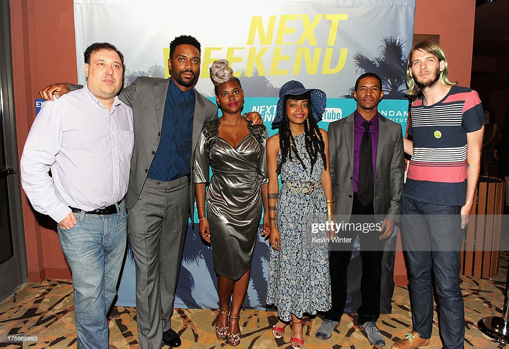 Producer Jim Wareck, director Shaka King, costume designer Charlese Antoinette Jones, actor Amari Cheatom and Sundance Programmer Charlie Reff attend 'Newlyweeds' premiere during NEXT WEEKEND, presented by Sundance Institute at Sundance Sunset Cinema on August 10, 2013 in Los Angeles, California.
