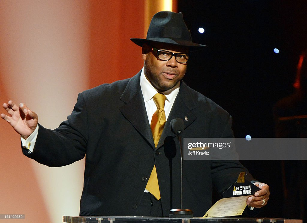 Producer Jimmy Jam accepts an award onstage during the 55th Annual GRAMMY Awards at Nokia Theatre L.A. Live on February 10, 2013 in Los Angeles, California.