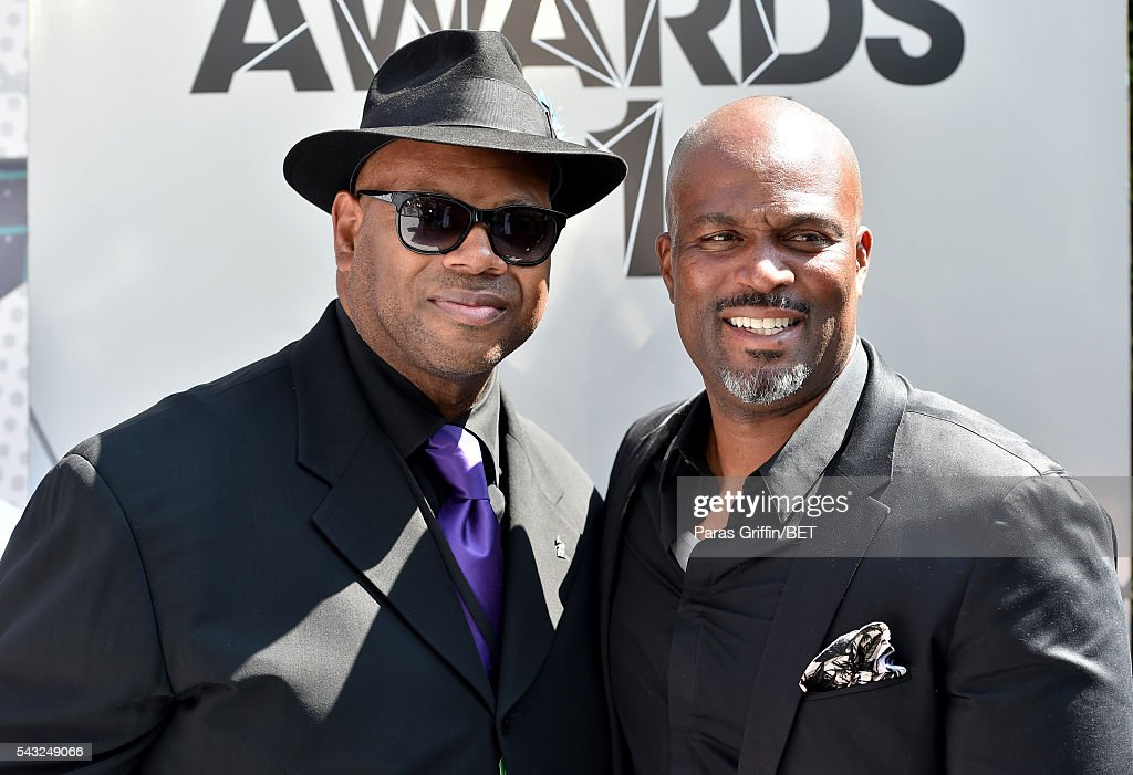 Producer <a gi-track='captionPersonalityLinkClicked' href=/galleries/search?phrase=Jimmy+Jam&family=editorial&specificpeople=211251 ng-click='$event.stopPropagation()'>Jimmy Jam</a> (L) and actor <a gi-track='captionPersonalityLinkClicked' href=/galleries/search?phrase=Chris+Spencer+-+Actor&family=editorial&specificpeople=4604418 ng-click='$event.stopPropagation()'>Chris Spencer</a> attend the 2016 BET Awards at the Microsoft Theater on June 26, 2016 in Los Angeles, California.
