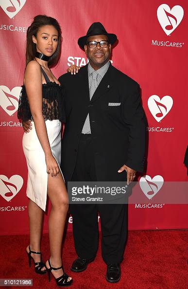 Producer Jimmy Jam and Bella Harris attend the 2016 MusiCares Person of the Year honoring Lionel Richie at the Los Angeles Convention Center on...