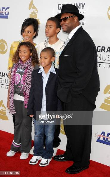 Producer Jimmy Jam and family arrive to the Grammy Nominations Concert LIVE held at the Nokia Theatre LA LIVE on December 3 2008 in Los Angeles...