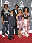 Producer Jimmy Jam and family arrives at The 53rd Annual GRAMMY Awards held at Staples Center on February 13 2011 in Los Angeles California