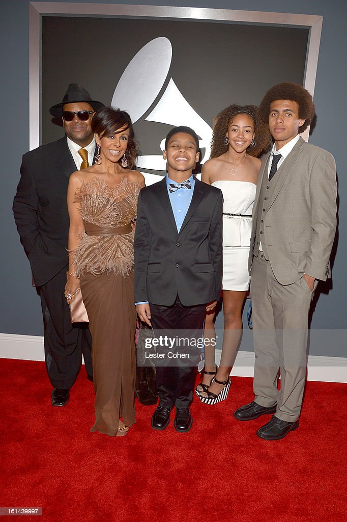 Producer Jimmy Jam (L) and guests attend the 55th Annual GRAMMY Awards at STAPLES Center on February 10, 2013 in Los Angeles, California.