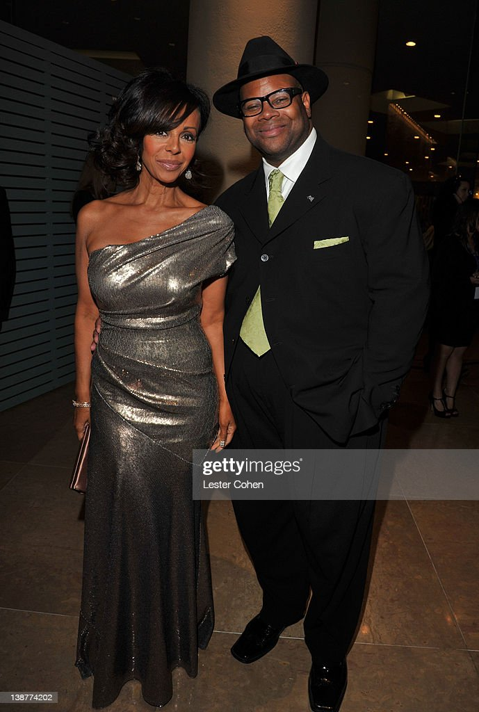 Producer Jimmy Jam and Lisa Padilla arrives at Clive Davis and The Recording Academy's 2012 PreGRAMMY Gala and Salute to Industry Icons Honoring...