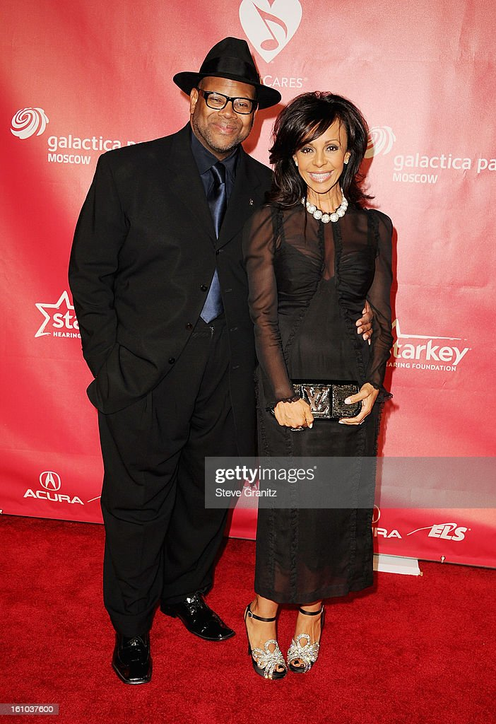 Producer Jimmy Jam and wife Lisa Padilla attend MusiCares Person Of The Year Honoring Bruce Springsteen at Los Angeles Convention Center on February 8, 2013 in Los Angeles, California.